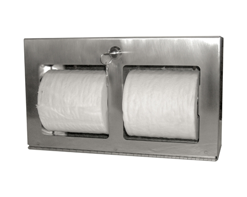 Locking Double Roll Toilet Tissue Dispenser Horizontal